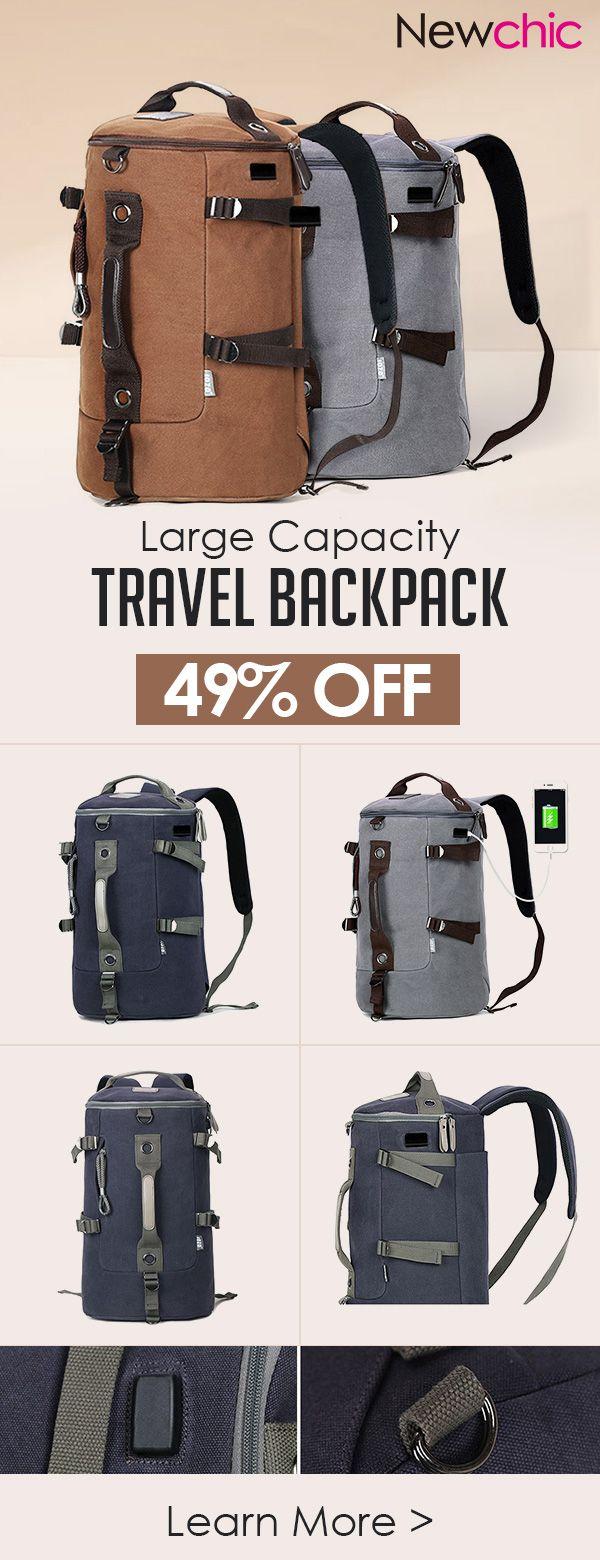 Us3827 Canvas Multi Functional Large Capacity Usb Charging Port Tas Kamera Wotancraft Messenger Backpack Travel Bag For Men