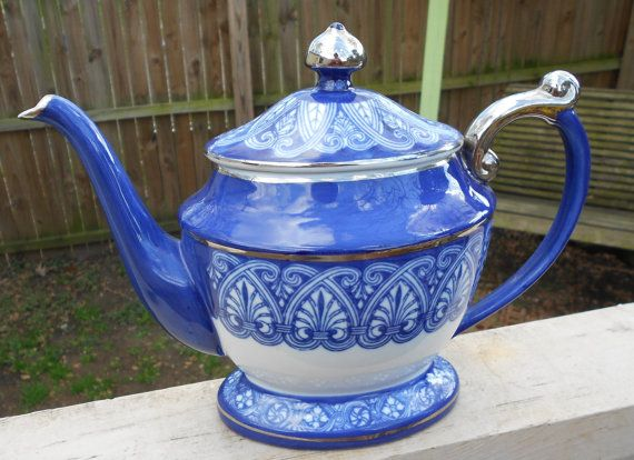 Teapot Large Bombay Made In China Mint Condition By Teardropcurio