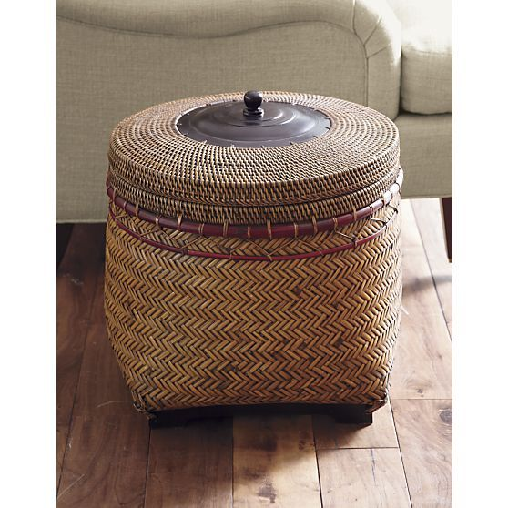 Rinjani Basket in Home Accents | Crate and Barrel $99.95