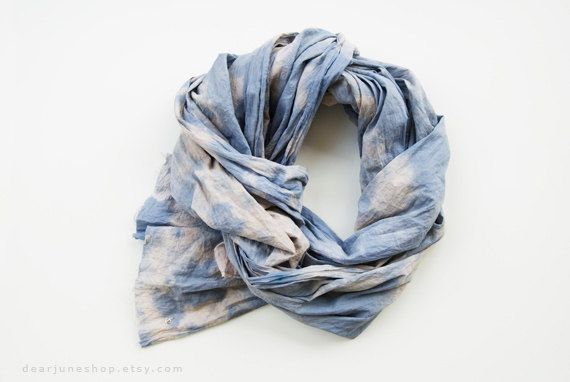 5c42bc141 CLOUD YELLOW - tie dyed cotton scarf. Hand dyed. Oversized, lightweight wrap,  shawl. Fashion, women accessories.