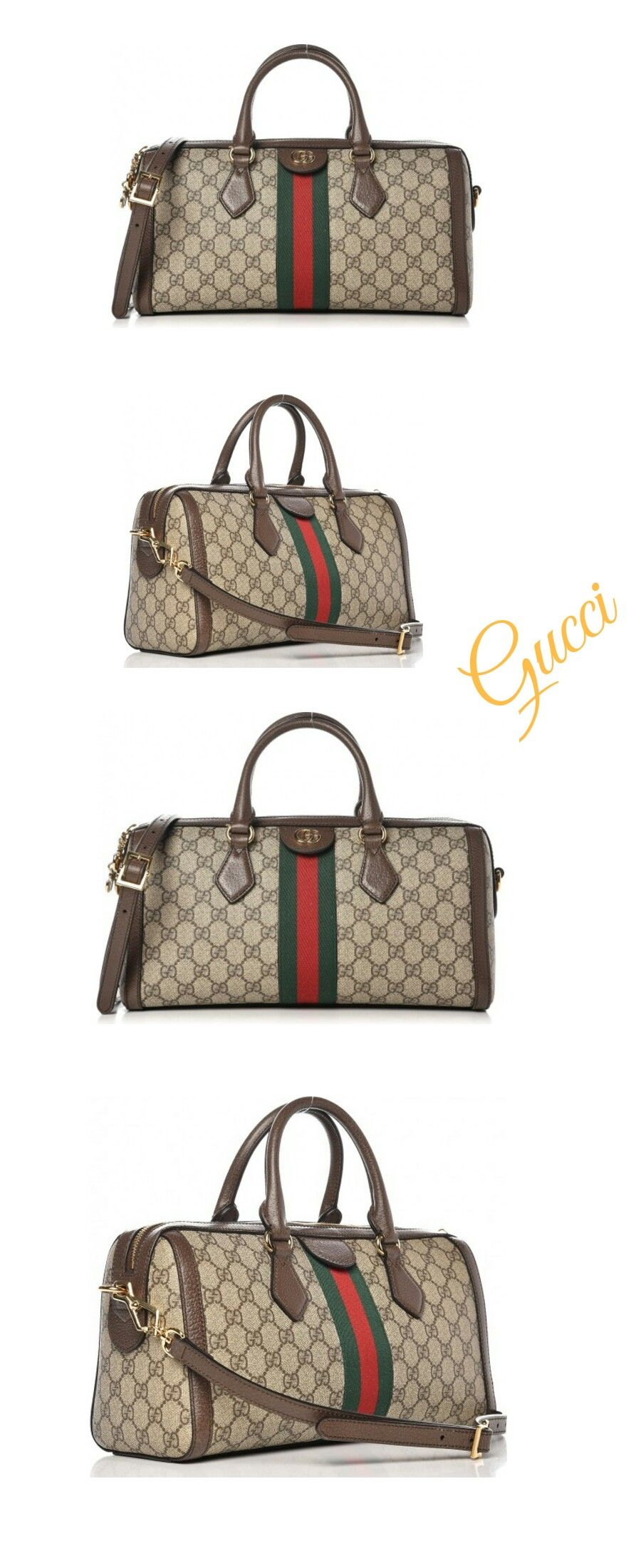 ac3cfaa2b362 Gucci Gucci Ophidia Top Handle Monogram GG Supreme Web Medium Brown .#add#affiliate