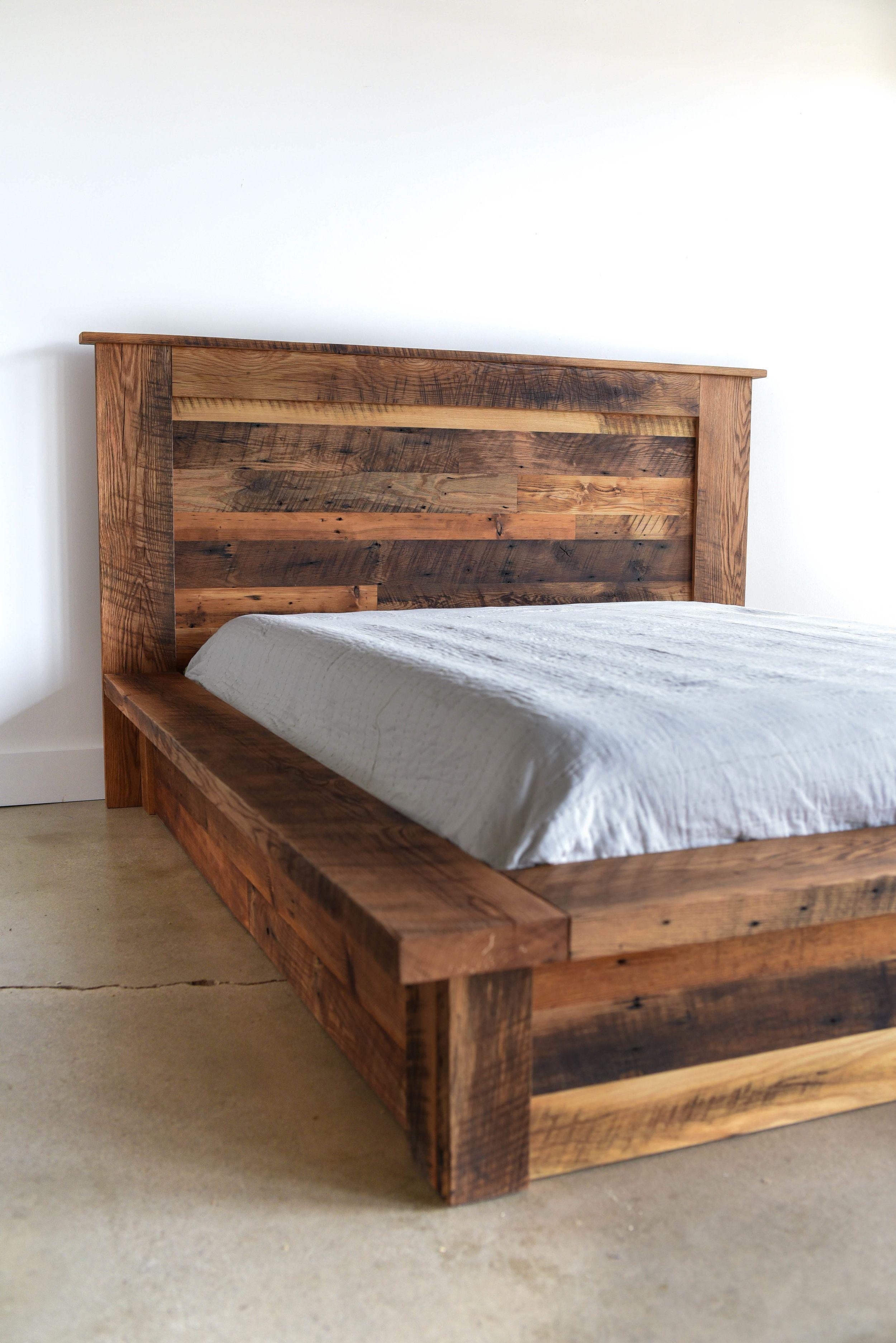 Reclaimed Wood Platform Bed - WHAT WE MAKE  Wood platform bed