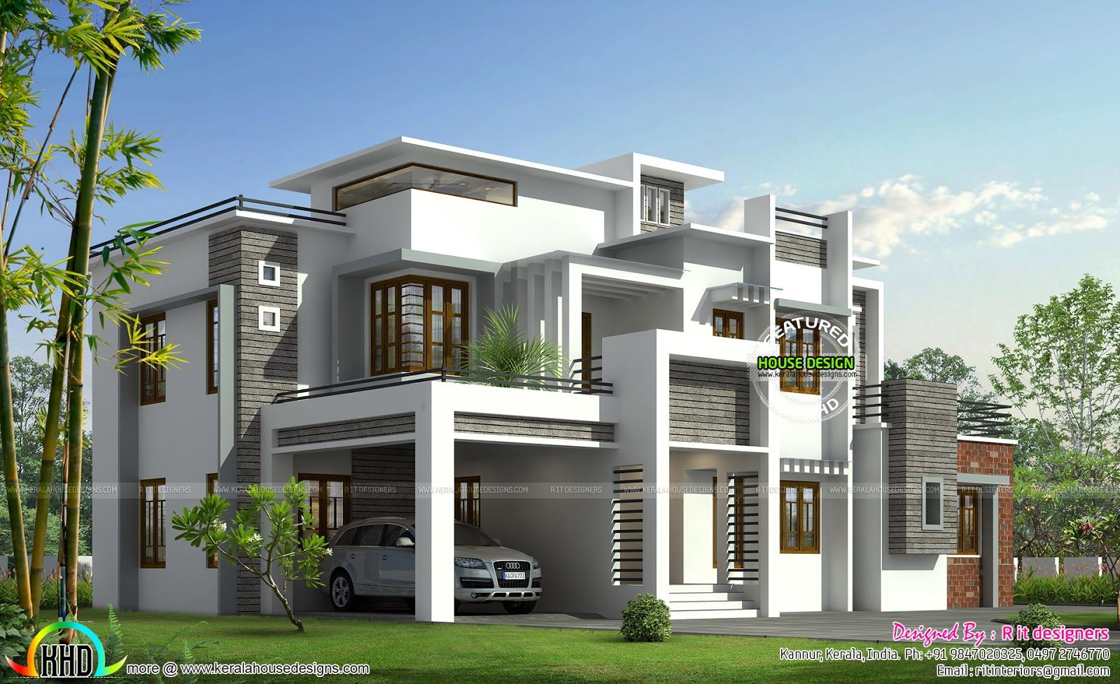 Box model contemporary house Kerala home design and | cool house ...