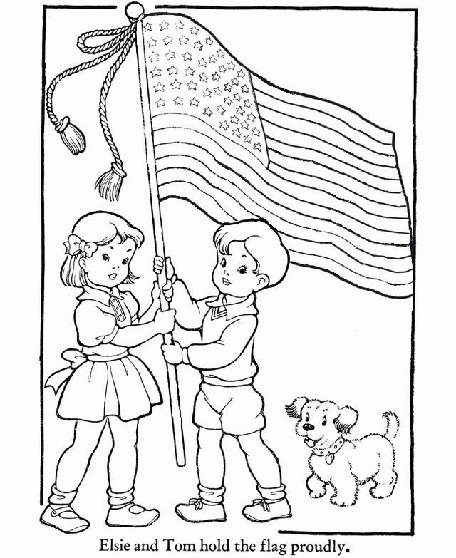 Freebie Happy 4th Of July Craft Gossip Veterans Day Coloring Page American Flag Coloring Page Flag Coloring Pages