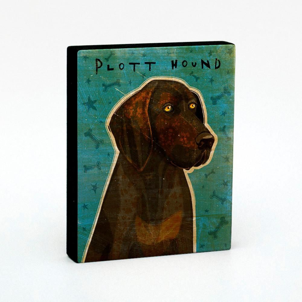 Plott Hound Art Block #plotthound