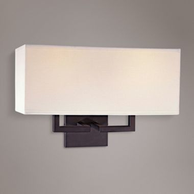 Rectangle Bronze 16 Inch W George Kovacs Wall Sconce