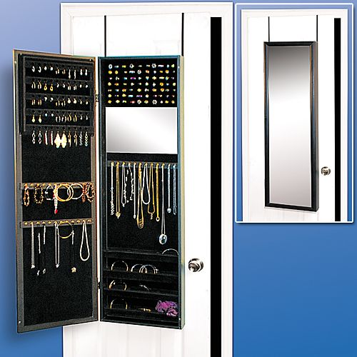Details About Over Closet Door Mirror Jewelry Armoire Full Length