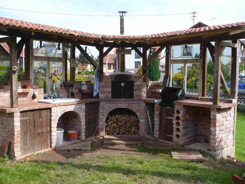 Neues Projekt Outdoorkuche Mit Steinbackofen Pizzaofen Garten Garten Garten Kuche