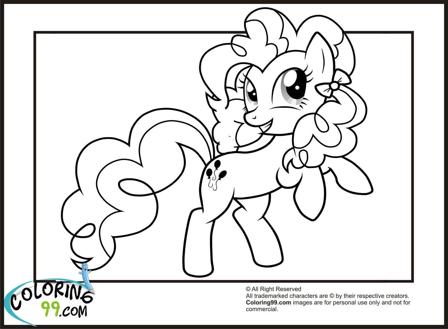Ausmalbilder My Little Pony Pinkie Pie : Mlp Pinkie Pie Smiling Coloring Pages Jpg 1500 1100 Coloring 4