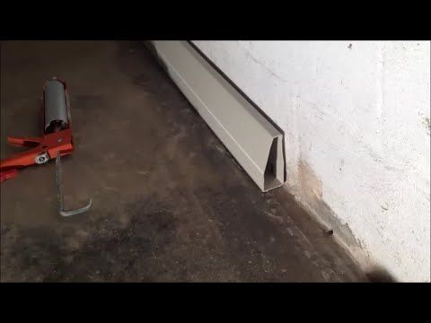 Interior Drainage System For Diy Basement Waterproofing Youtube