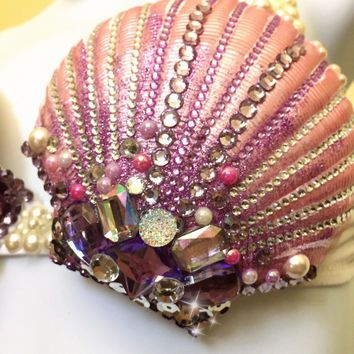 Mermaid rave bra seashell bra costume