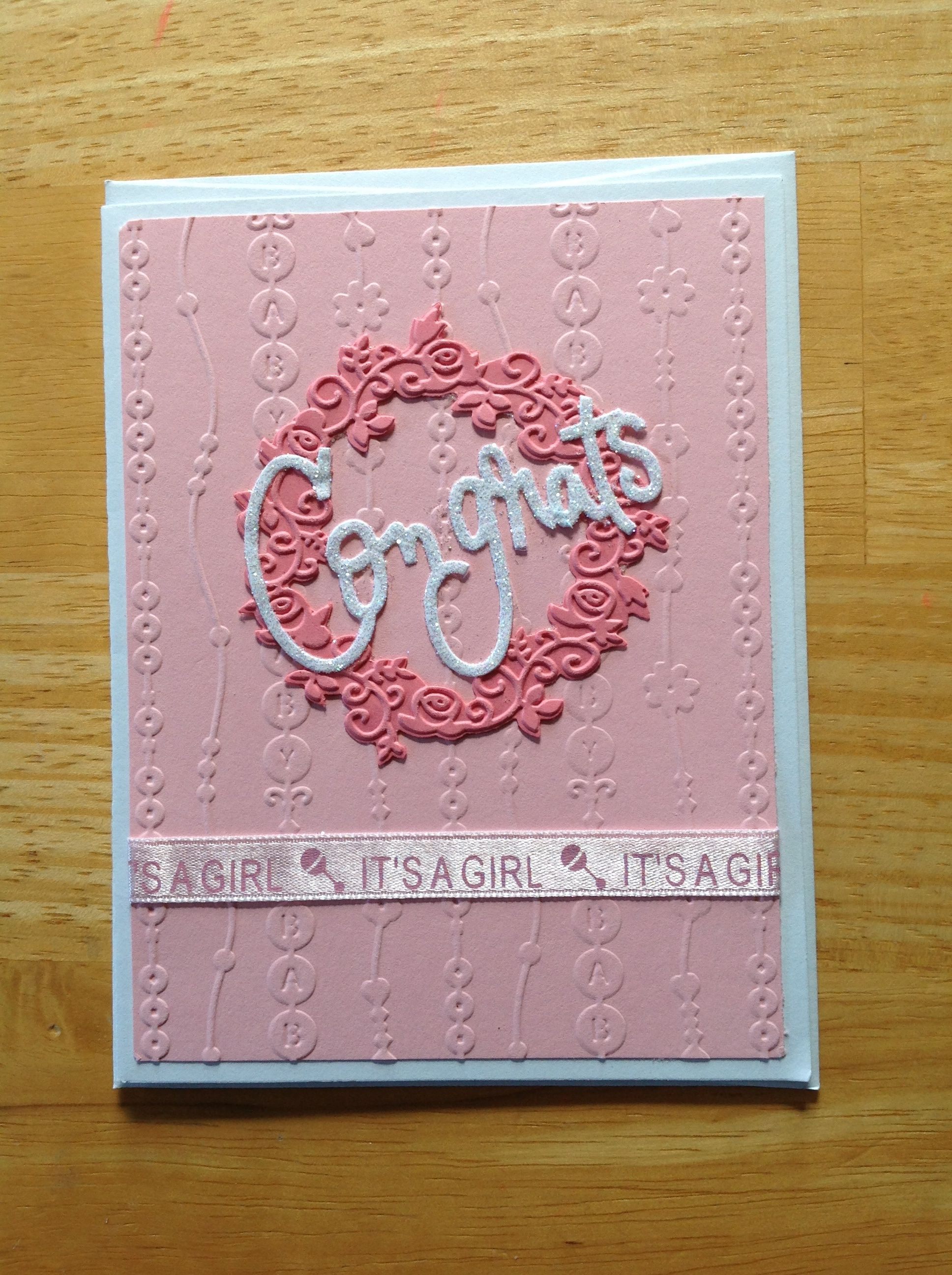 It's a girl! Baby card.