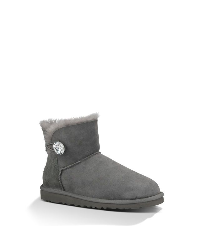 UGG boots Twinface sheepskin Swarovski® crystal button Nylon binding Foam  and UGGpure™ wool insole EVA outsole Patented tread design 5 ½ shaft height  UGG ...