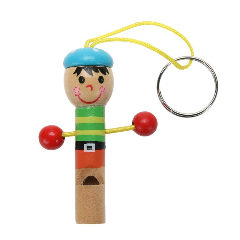 Baby Kids Wooden Mini Whistle Pirates Colorful Developmental