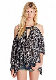 546d7ad82f644 Free People Good Morning Cold Shoulder Top