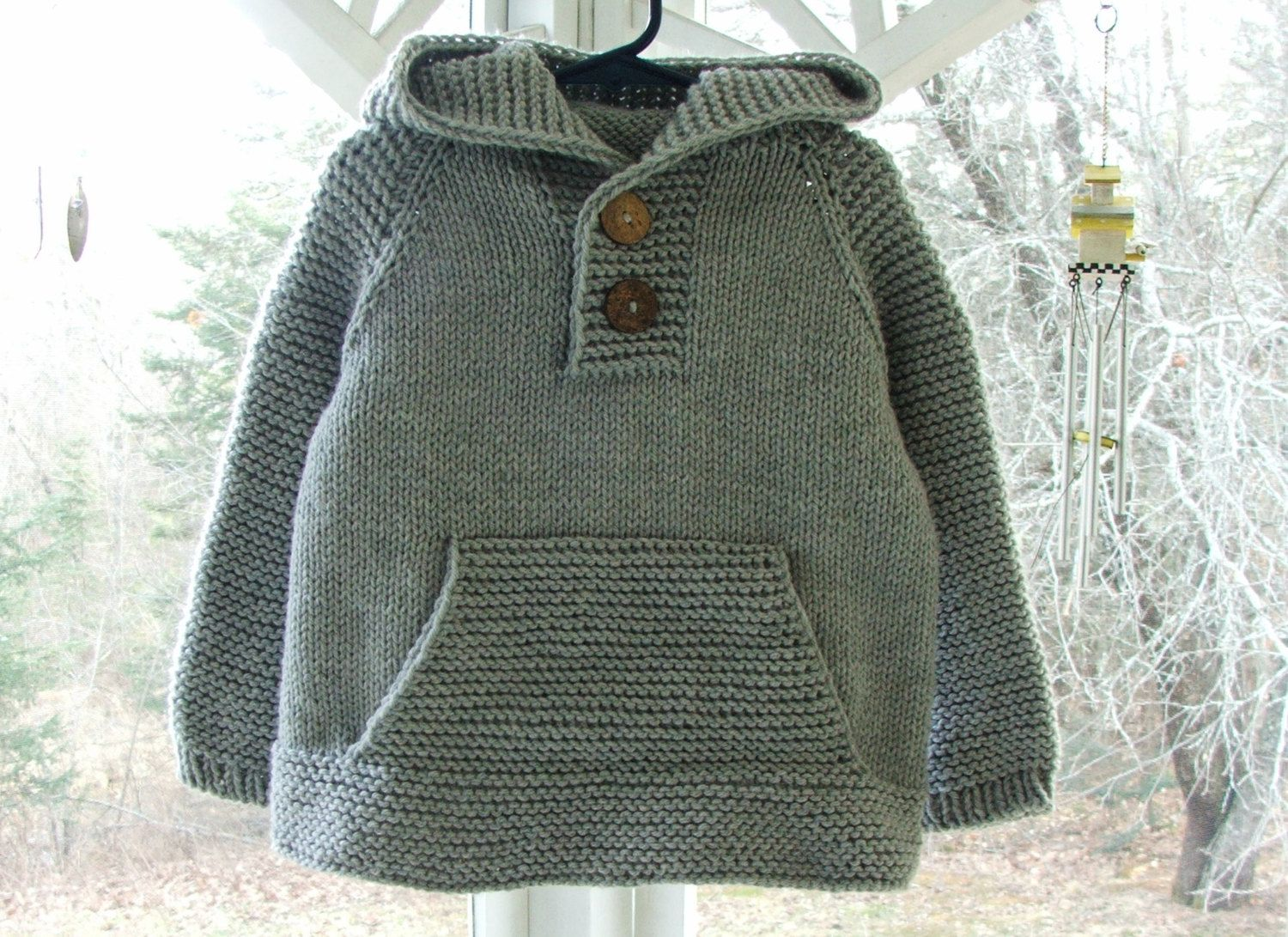 Baby Boy Clothes - Toddler Boys Gray Hooded Sweater Size 3T - Hand ...