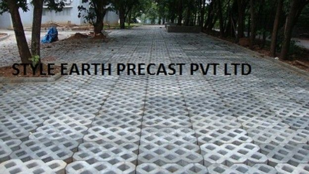 We manufacture quality Grass Pavers of varied sizes and colors in