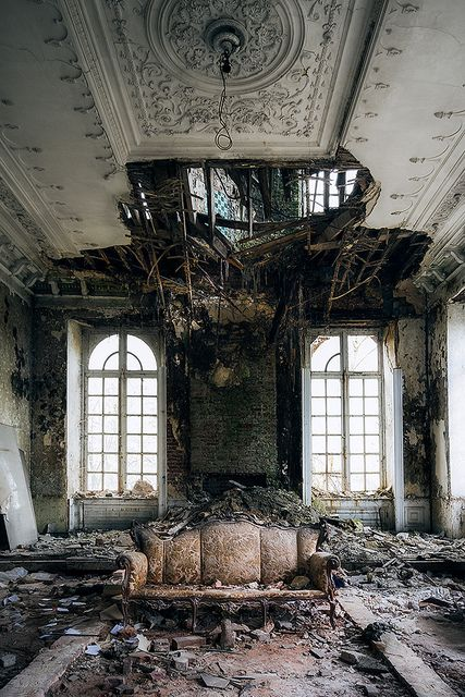 Deterioration — Trespass on private property to document what happens to abandoned houses/buildings overtime.