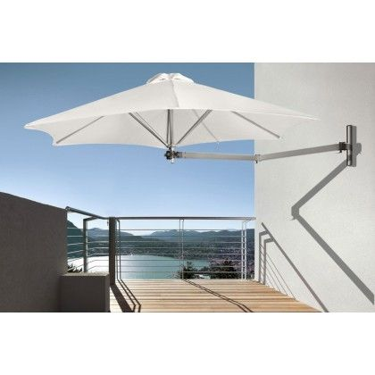 Paraflex Wall Mounted Umbrella Instant Shade Patio Umbrella Patio Patio Umbrellas