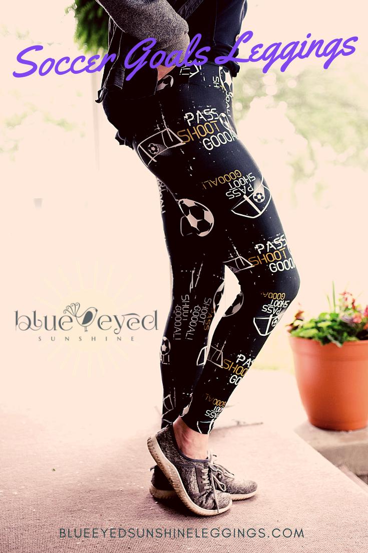 Blue Eyed Sunshine Girls Cheerleader Love Leggings