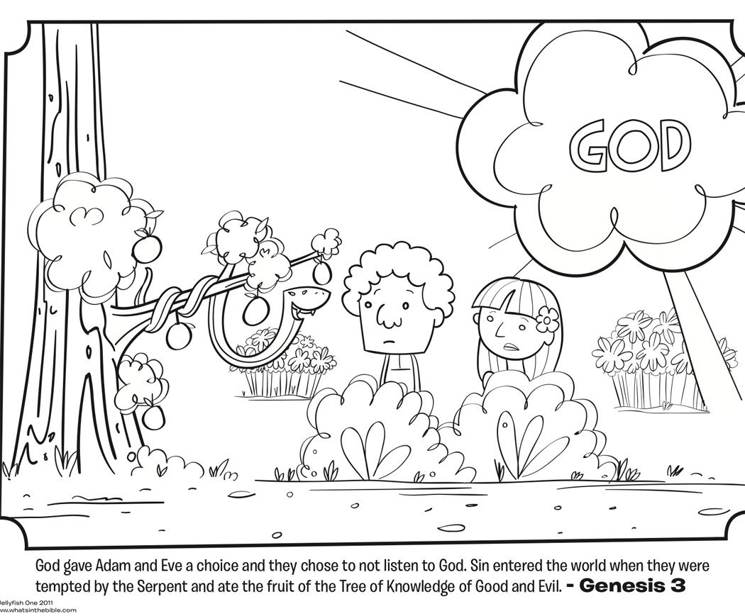 Adam and Eve (Garden of Eden) | Free Printable Coloring Page ...