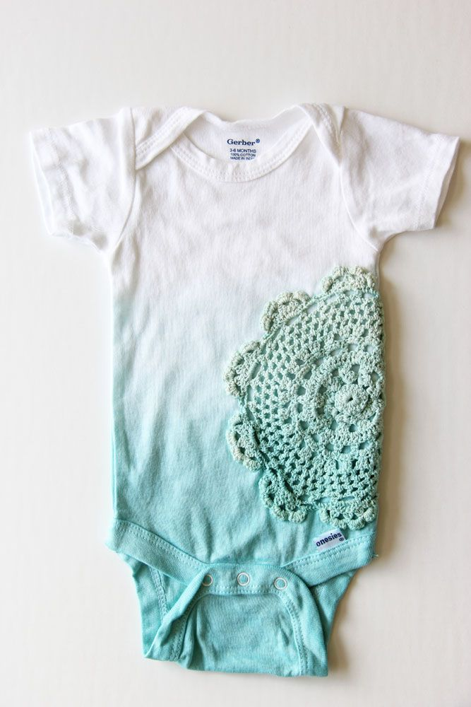 V and Co. ombre doily baby girl onesie