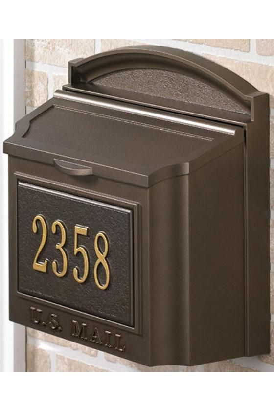 Mailbox with house number | My craftsman bungalow | Wall mount