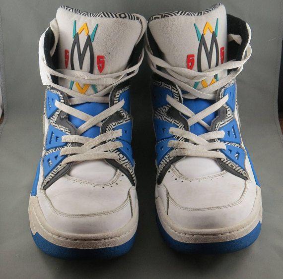 Adidas Originals Dikembe Mutombo 55 - 1993 Blue White HI Top Shoes - Size 16 d352bcf2d