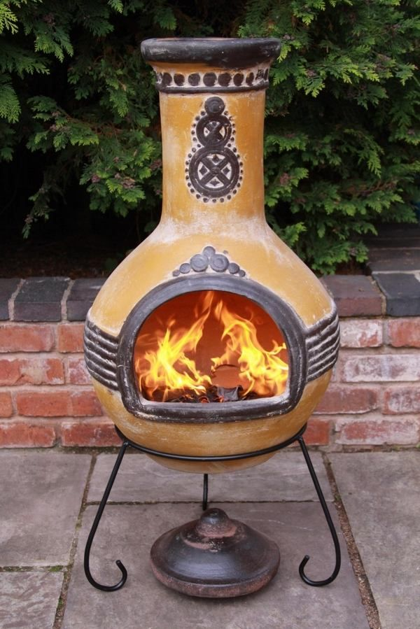 Chiminea Patio Fireplace Ideas To Stay Warm In The Outside Chiminea Patio Fireplace Large Backyard Landscaping