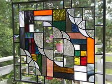 """""""RHAPSODY"""" STAINED GLASS HANGING PANEL"""