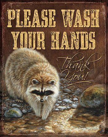 5227755174 Please Wash Hands Tin Sign Home decor Pinterest