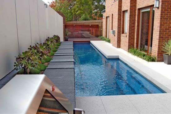 modern narrow swimming pool | Landscape Inspiration in 2019 ...
