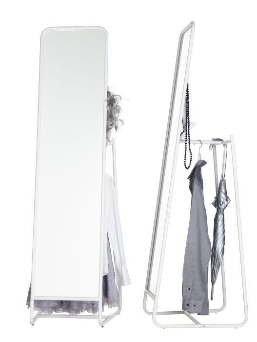 KNAPPER Floor mirror, white | Bedrooms, Floor mirror and Dressing area
