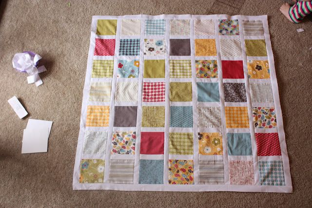 The Crafty Cupboard: Make Life Square Baby Quilt Top Tut