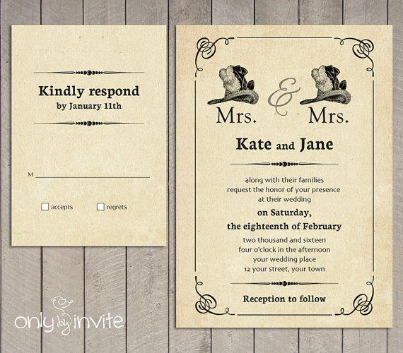 Same Sex Wedding Invitation Printable