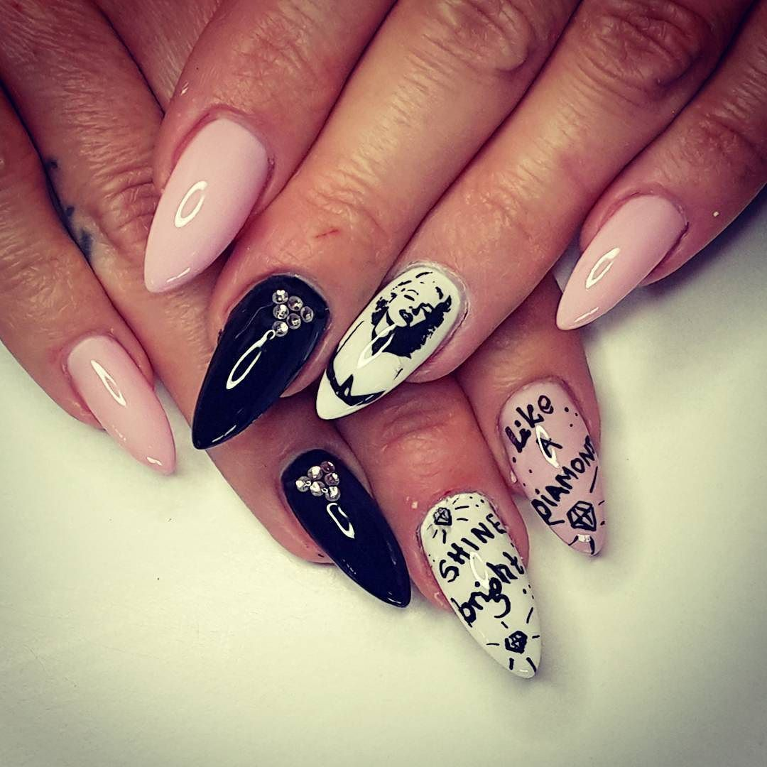 marylinmonroe #shinebrightlikeadiamond #diamonds #nails #new ...