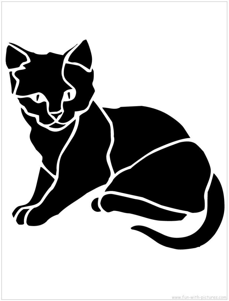 Cat Kitten with Yarn Stencil Reusable 10 mil Mylar Stencil