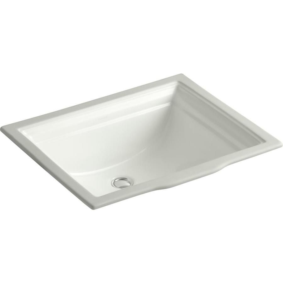 Kohler Memoirs Dune Undermount Rectangular Bathroom Sink With Overflow Drain 20 6825 In X 17 3125 In Lowes Com Undermount Bathroom Sink Rectangular Sink Bathroom Bathroom Sink