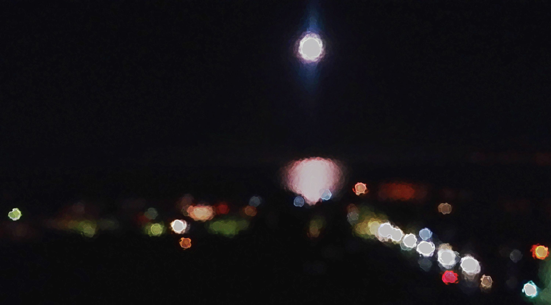 Luna Piena Sul Mare Palermitano A Febbraio Alduss Art Pinterest