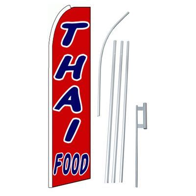 NeoPlex Thai Food Swooper Flag and Flagpole Set