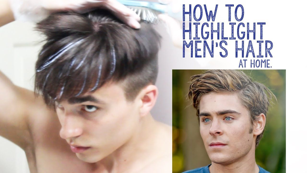 How To Highlight Men S Hair At Home Men Hair Highlights Boys Hair Highlights Short Hair Highlights