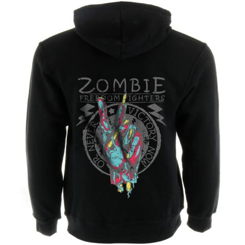Zombie Freedom Fighters Men's Zip Up Hoodie