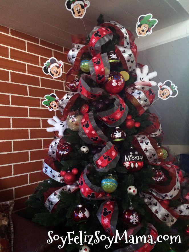 Decoracion de arboles de navidad mickey mouse