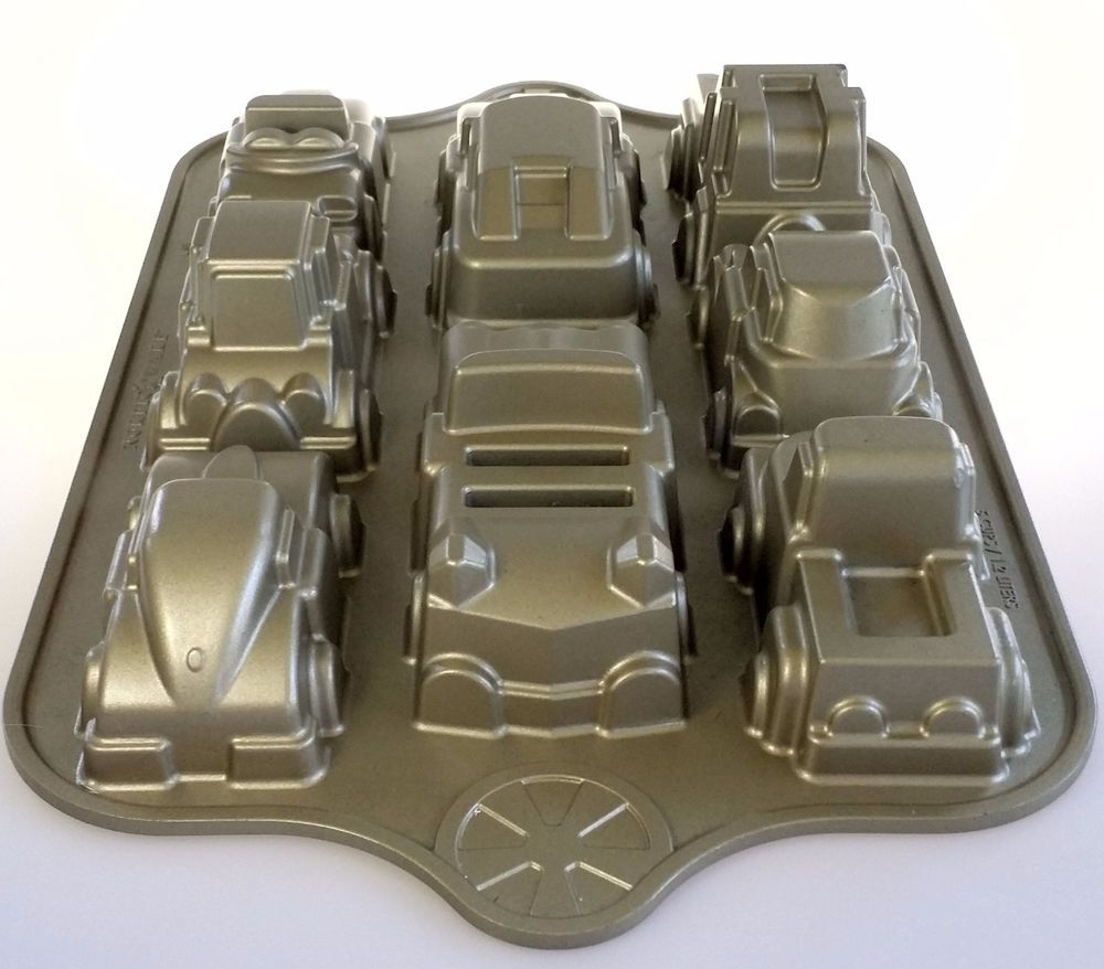 Nordic Ware Car Truck Cake Pan Mold Sweet Rides Classic Automobiles