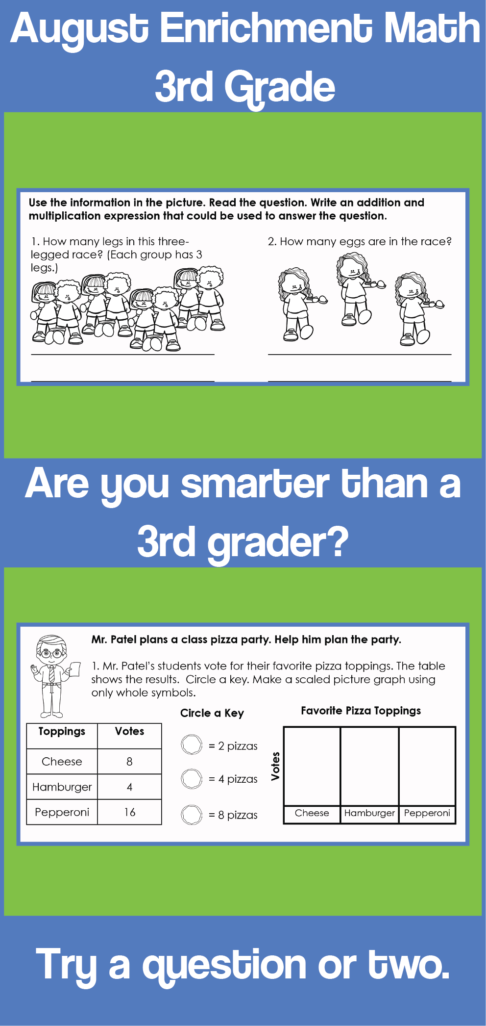 Love To Challenge Your Students Do You Want To Build On Skills For 2nd Grade The 15 Worksheets And 2 Performance Tasks Math Enrichment Math 3rd Grade Math [ 2092 x 992 Pixel ]