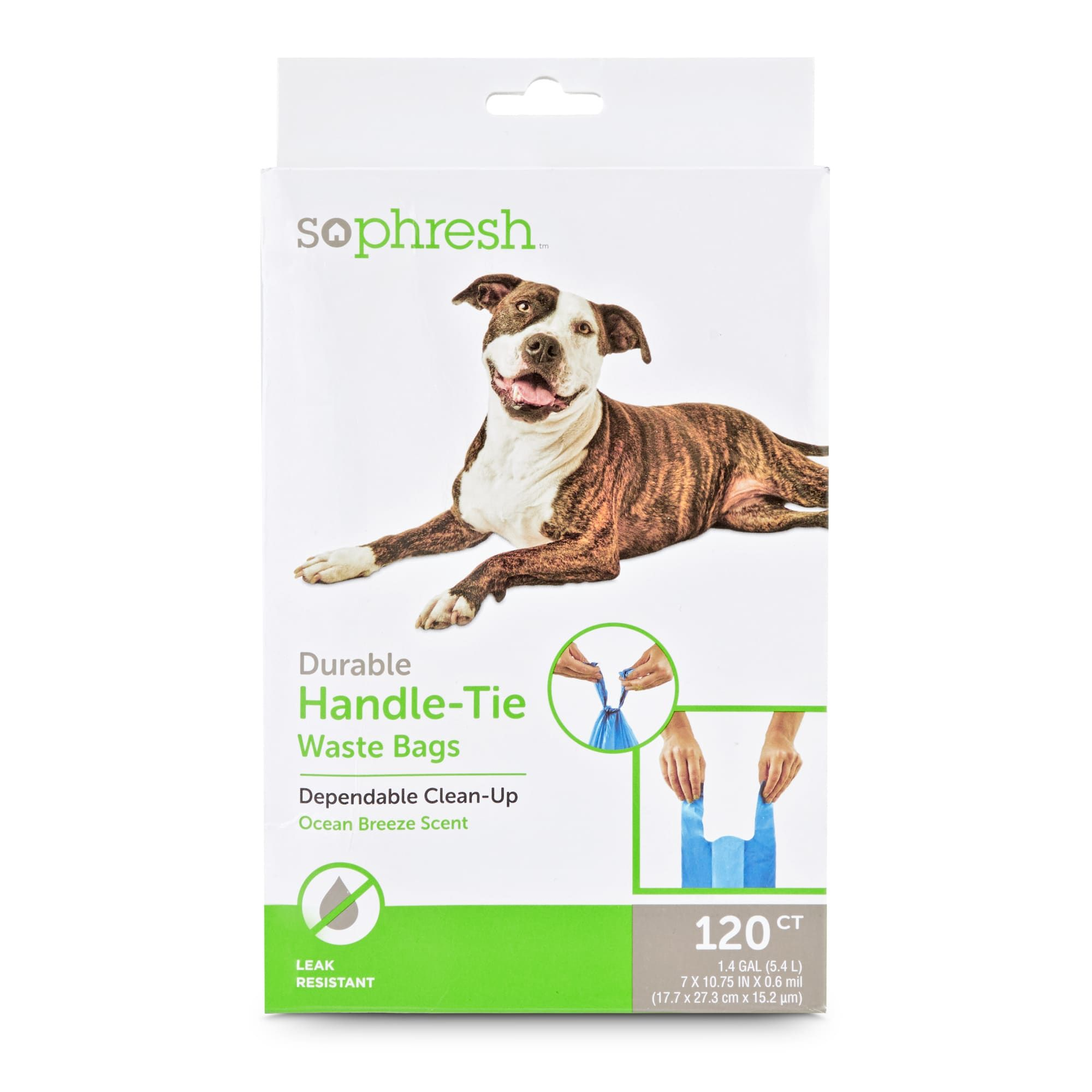 So Phresh Pick It Up Handle-Tie Scented Dog Waste Bags, 120 count, 7 IN