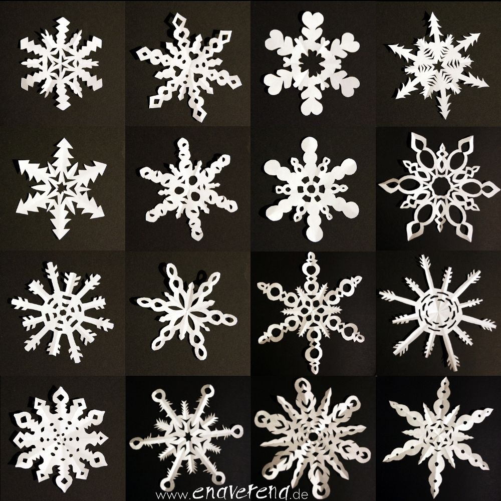 Sechseckige Schneeflocken aus Papier - Anleitung   Schneeflocken ...