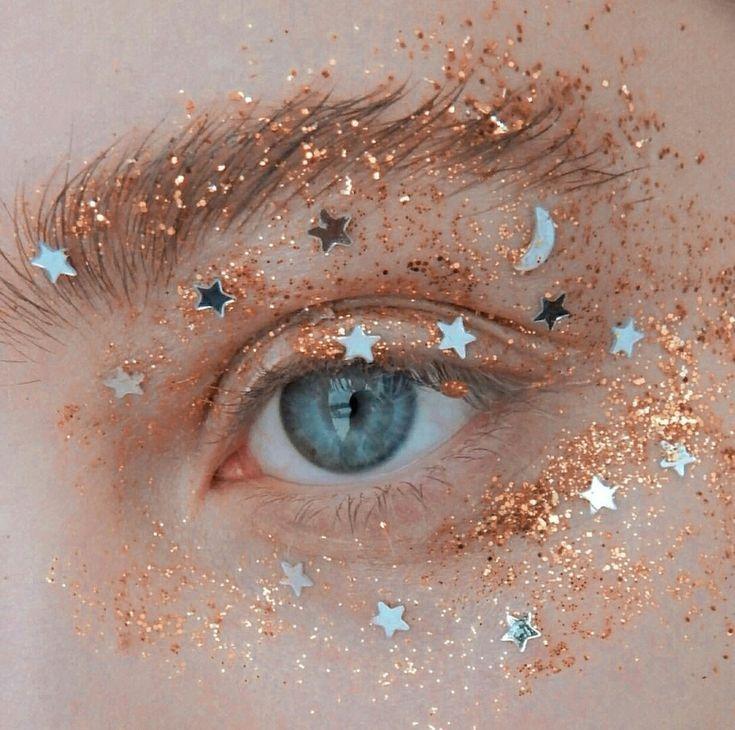 Moon and Stars Chunky Eye Glitter! #eyemakeup