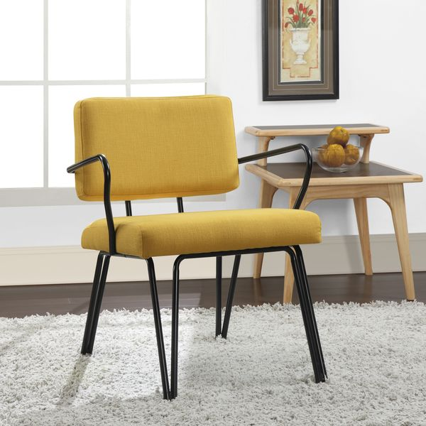 Palm Springs Yellow Upholstery Accent Chair Overstock