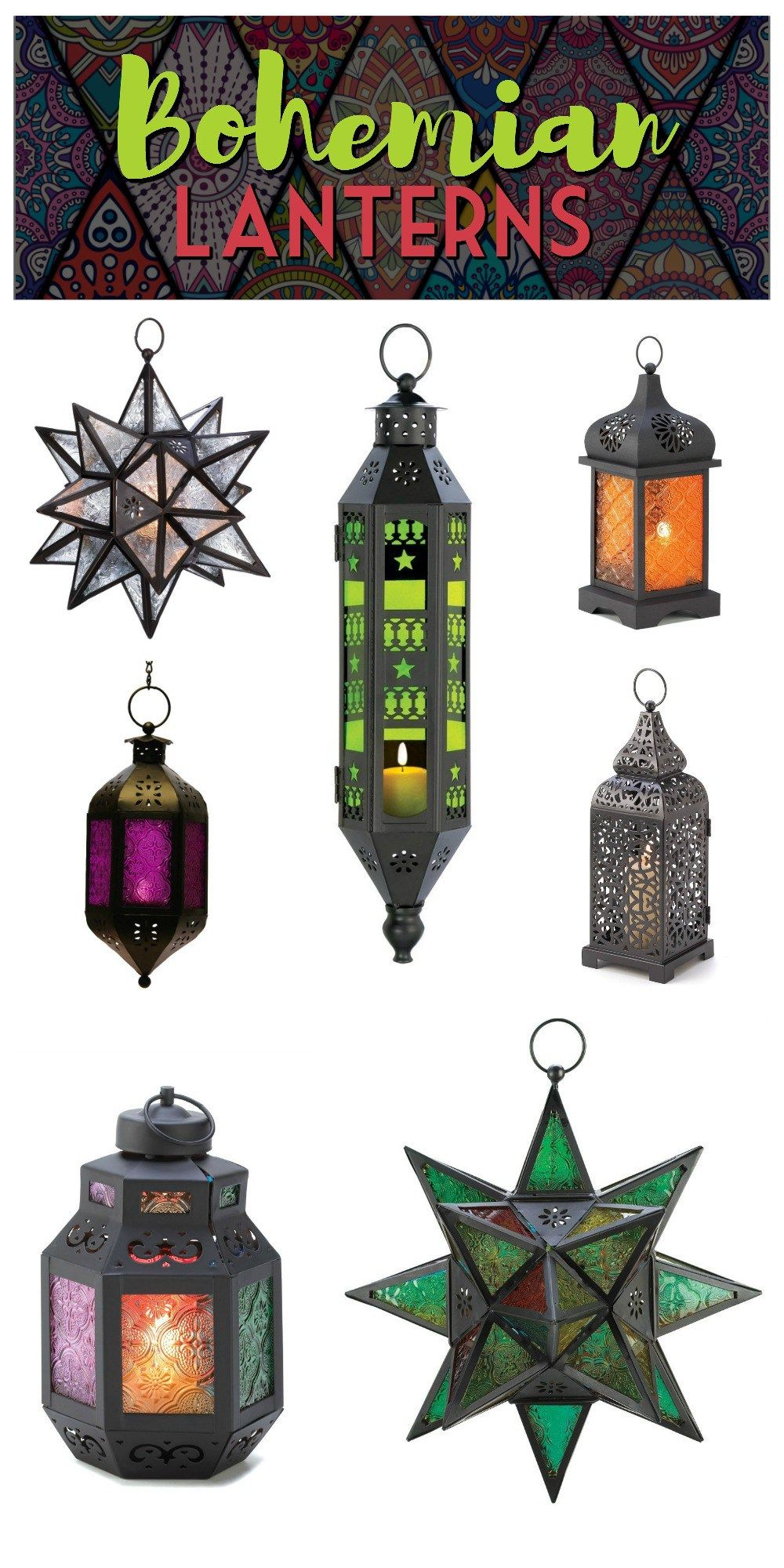 Exotic moroccan bedroom decorating light and deep purple colors - Bohemian Decor Moroccan Lanterns Where To Find